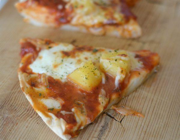 Deep Dish Hawaiian Pizza #RaguTailgating #ad