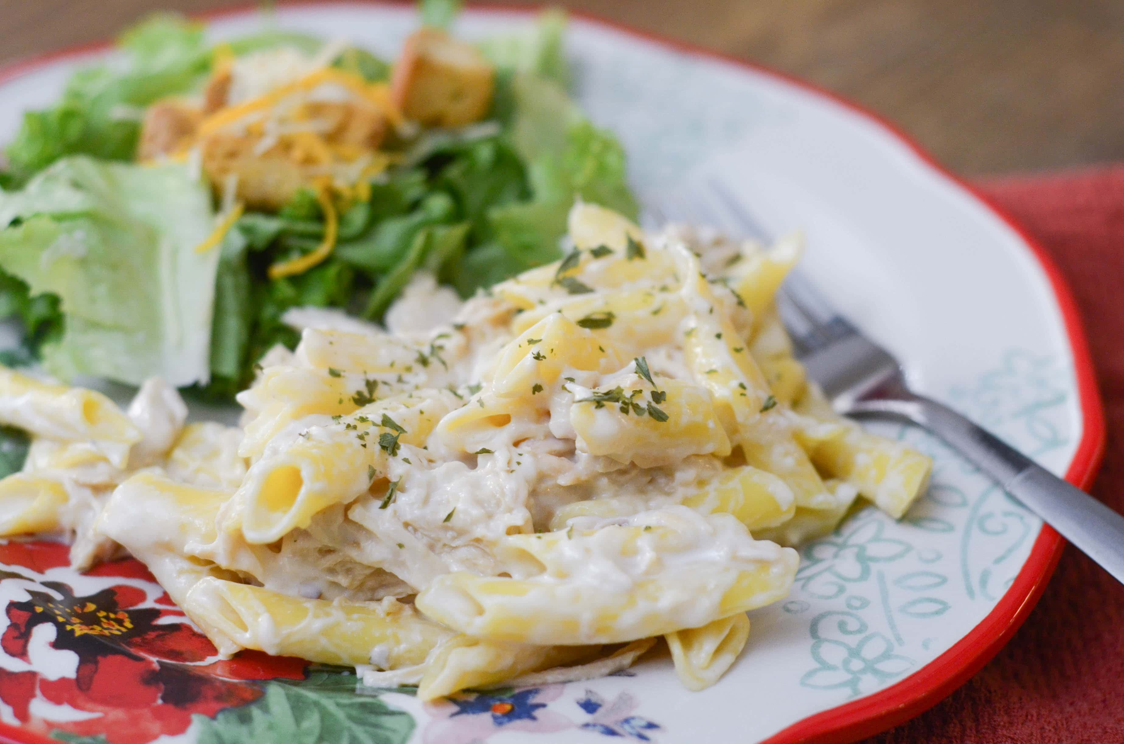 Slow Cooker Chicken Alfredo - Mommy Hates Cooking