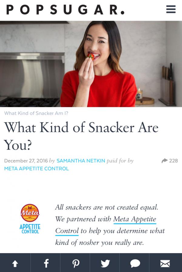 Meta Snack ID Quiz