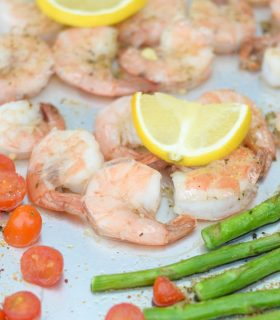 Sheet Pan Lemon Garlic Shrimp