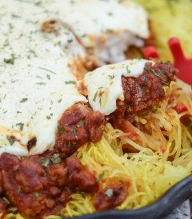 Cheesy Meaty Spaghetti Squash