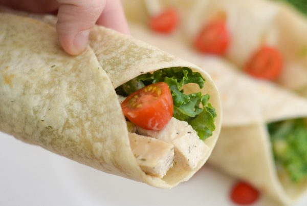 Zesty Italian Chicken Salad Wraps