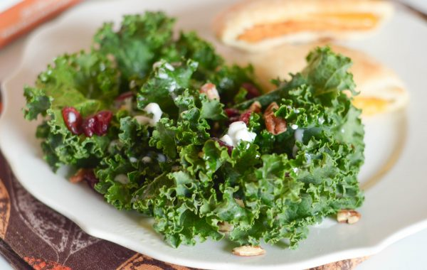 Cranberry Kale Salad with Chicken Melts