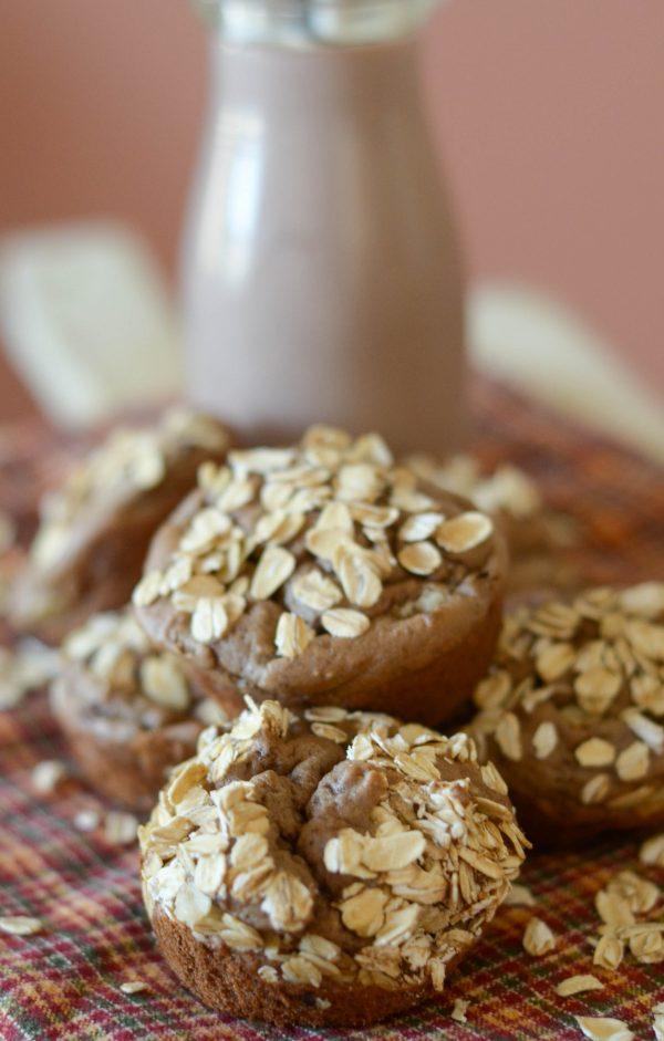 Chocolate Banana Muffins #TruMoo #TruFan #ad
