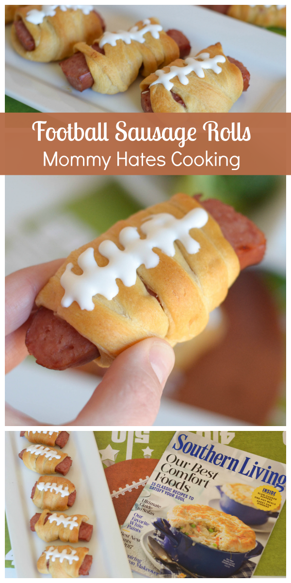 Football Sausage Rolls #TableTopTailgate #ad