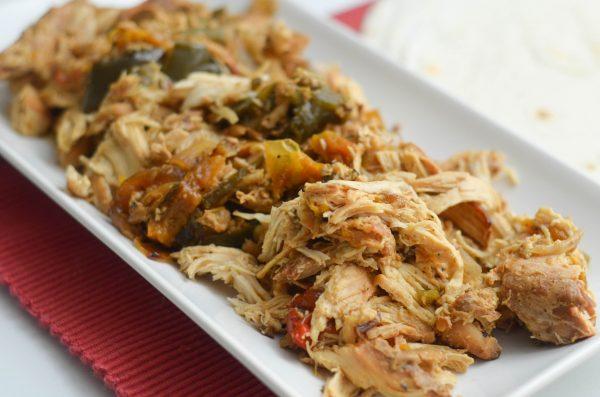 Slow cooker Chicken Fajita Meat