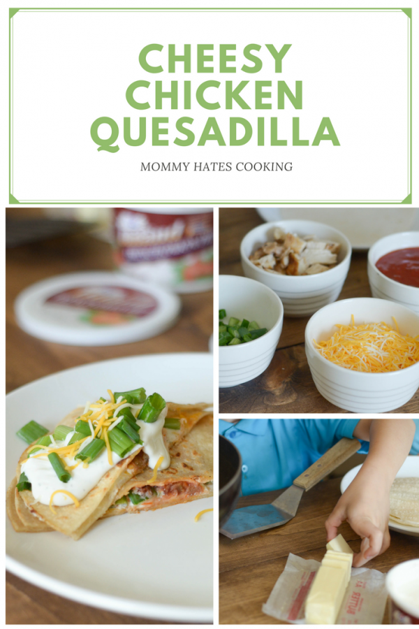 French Onion Cheesy Chicken Quesadillas #MealPlanningwithHiland AD