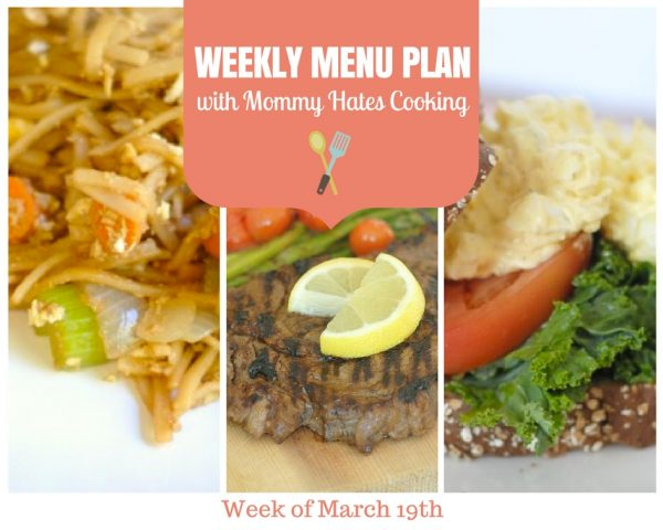 Weekly Menu Plan - Week of March 19th