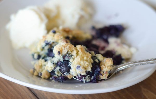 Gluten Free Blueberry Crumb Cobbler