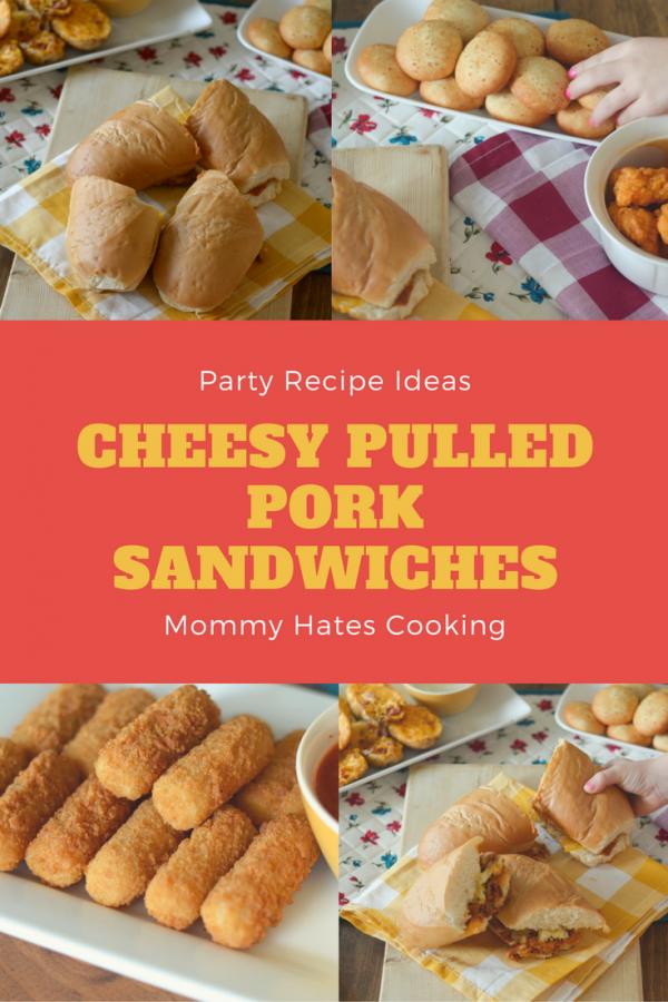 Cheesy Pulled Pork Sandwiches