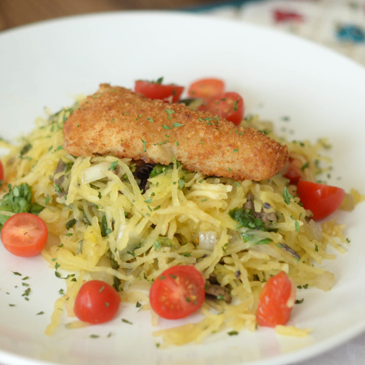 Potato Crunch Fillet Spaghetti Squash Sauté