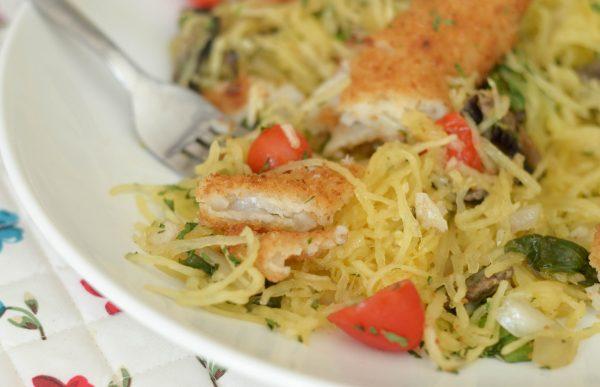 Potato Crunch Fillet Spaghetti Squash Sauté #TryGortons AD