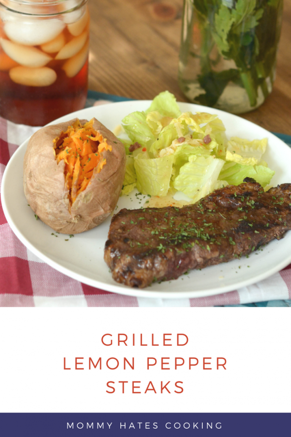 {Giveaway} Grilled Lemon Pepper Steaks #GrillIt AD