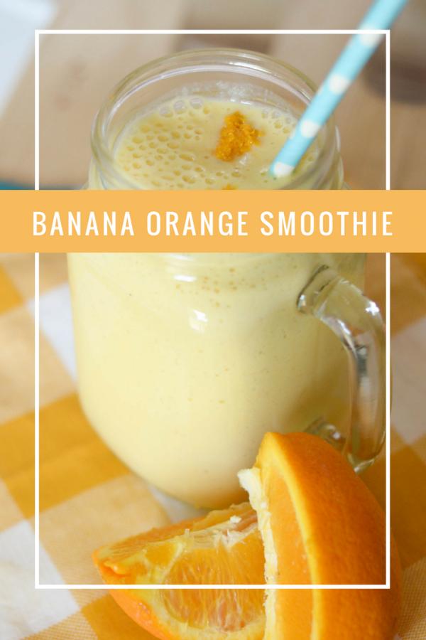 Banana Orange Smoothie #MetaWellness AD
