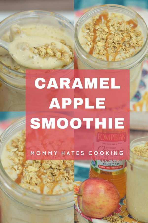 Caramel Apple Smoothie #PantryInsiders #TrendingintheKitchen #Pompeian #ad