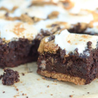 S'mores Black Bean Brownies