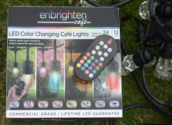 Brighten Up the Patio with Enbrighten Seasons #ColorCafeLights AD