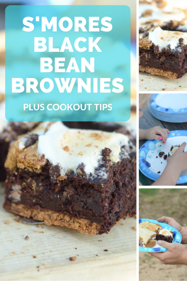 S'mores Black Bean Brownies + Summer Cookouts #NeverDoDishes #NoDirtyDishesDay AD