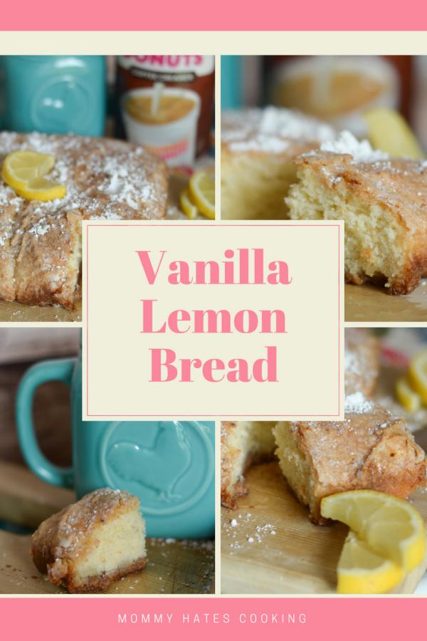 Vanilla Lemon Bread #DrunkinCreamers AD