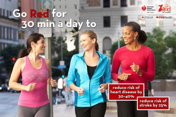 Go Red Get Fit with American Heart Association #GoRedGetFit AD