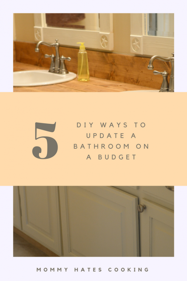 5 Ways to Update a Bathroom on a Budget #BathonaBudget #ad