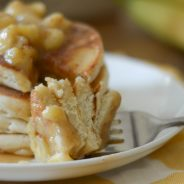 Gluten Free Bananas Foster Pancakes