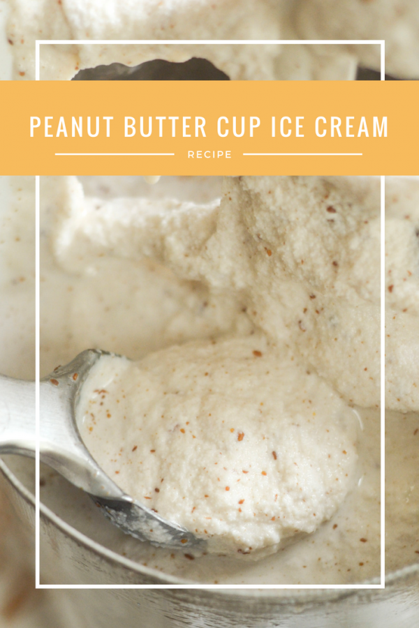 Homemade Peanut Butter Cup Ice Cream