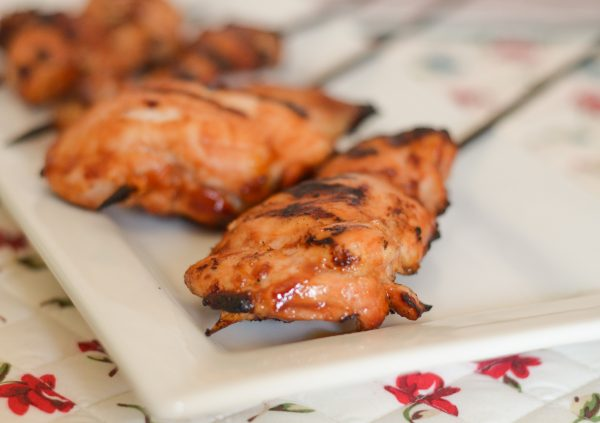 BBQ Chicken Skewers #FrenchsCrowd #FrenchsKetchup