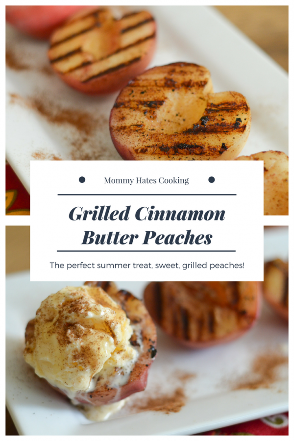 Grilled Cinnamon Butter Peaches