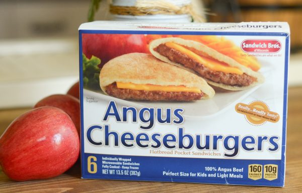 Cinnamon Apples with Angus Cheeseburgers