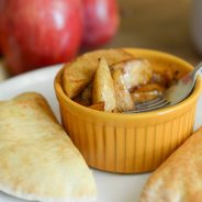 Cinnamon Apples with Angus Cheeseburgers