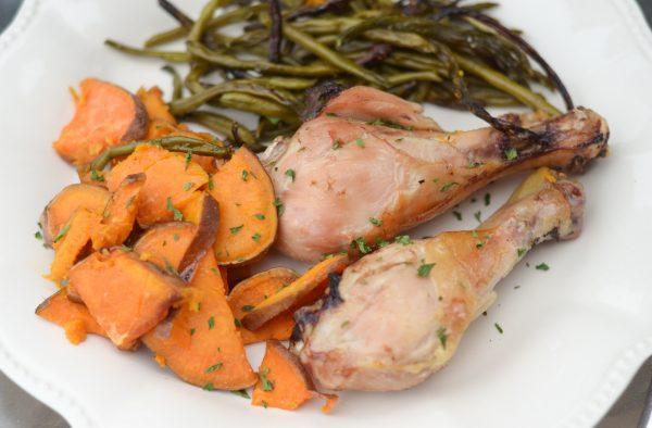sheet pan rosemary chicken