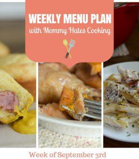 Weekly Menu Plan – Week of September 3rd