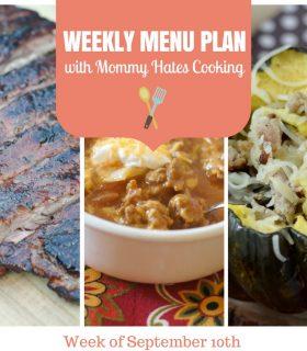 Weekly Menu Plan – Week of September 10th