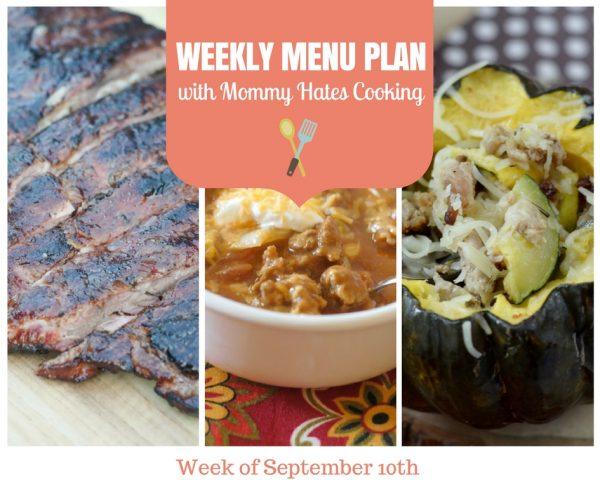 Weekly Menu Plan - Week of September 10th