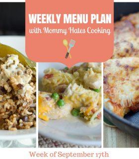 Menu Plan Monday – Week of September 17th