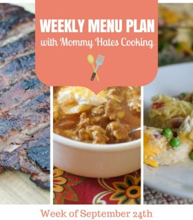 Weekly Menu Plan – Week of September 24th