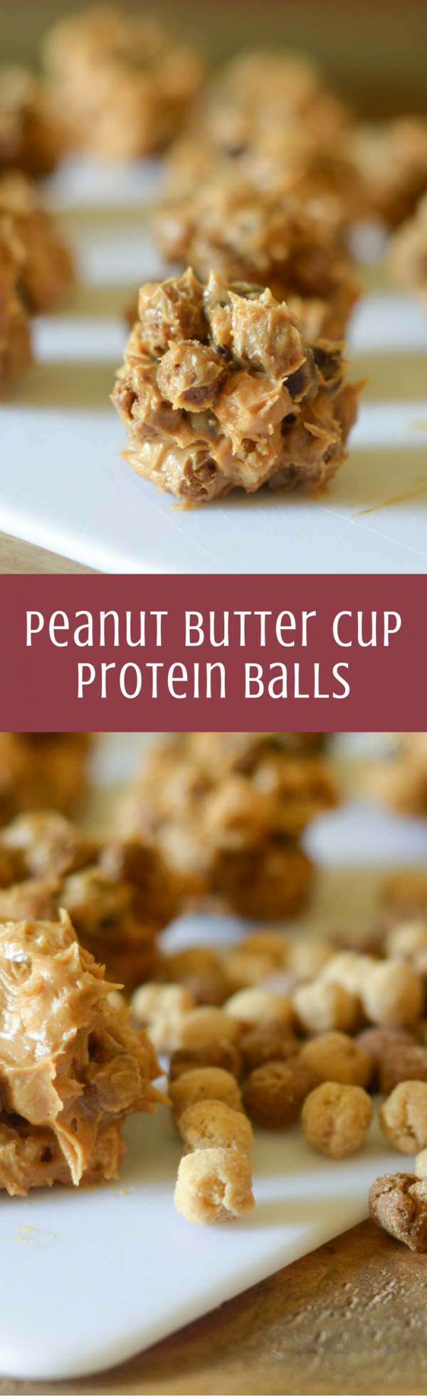 Peanut Butter Cup Protein Balls #PostCerealCreations #ad
