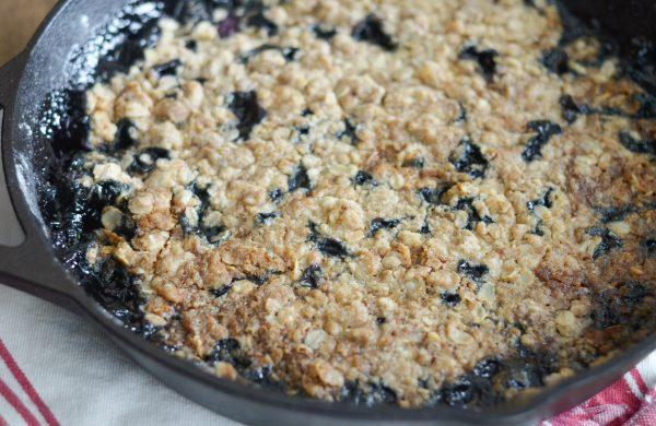 Gluten Free Blueberry Crisp