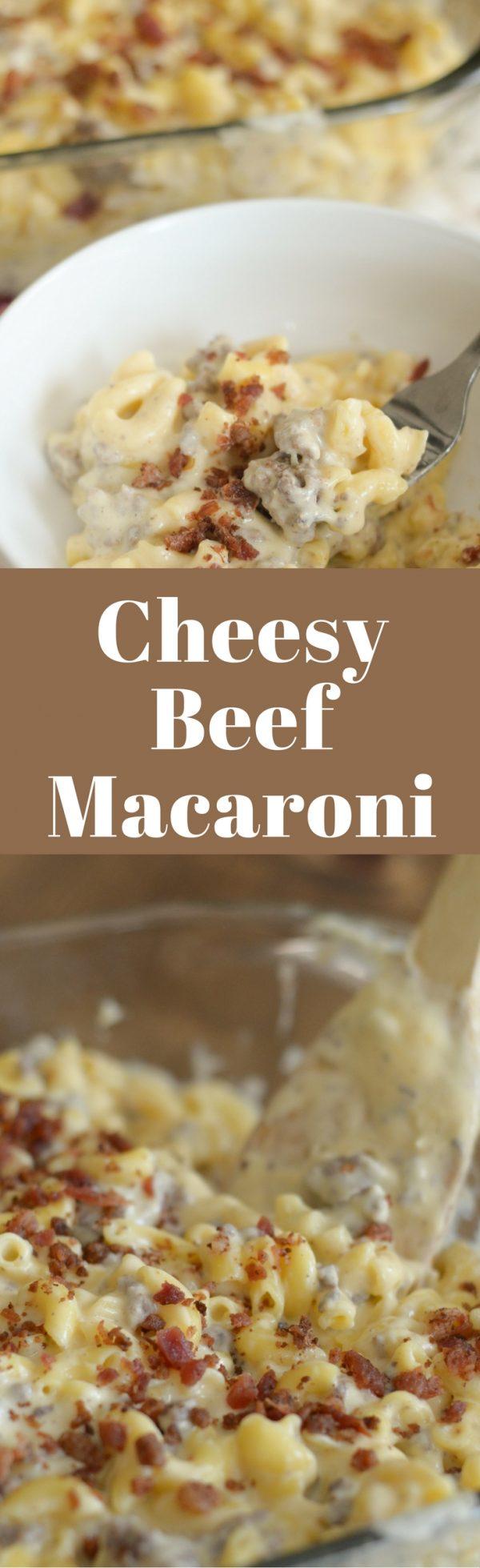 Gluten Free Beef Mac & Cheese