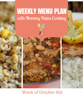 Weekly Menu Plan – Week of October 8th