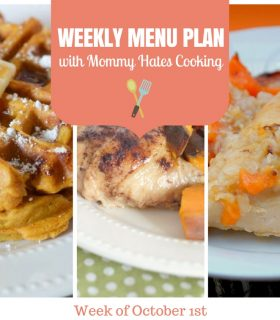 Weekly Menu Plan – Week of October 1st