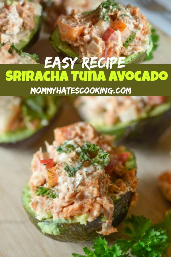 Sriracha Tuna Stuffed Avocado