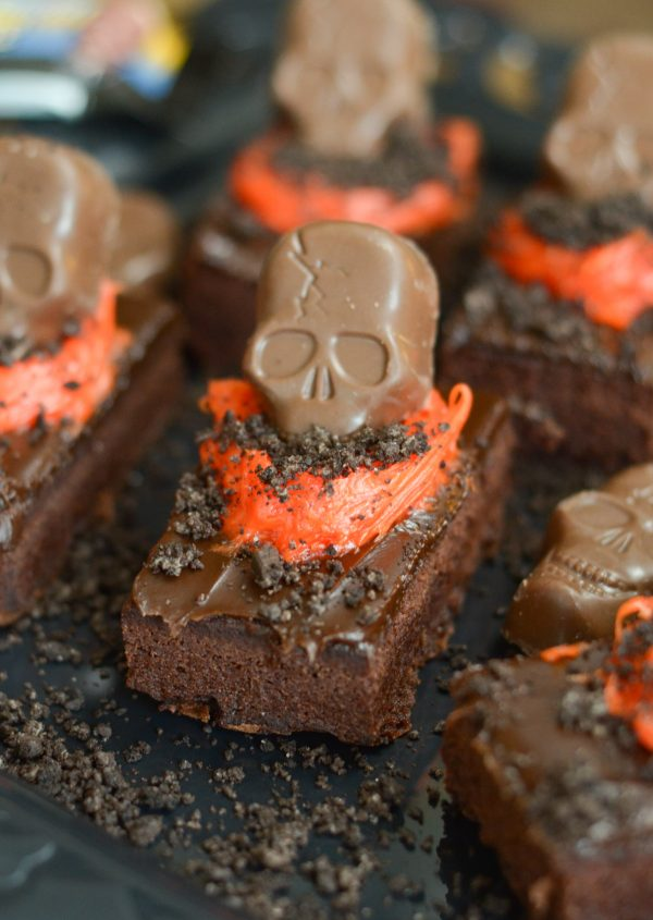 Skeleton Graveyard Brownies