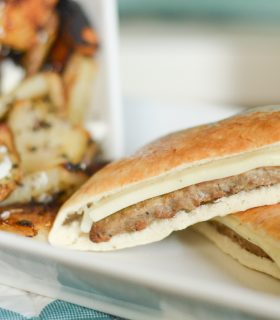 Roasted Greek Potatoes & Gyro Sliders