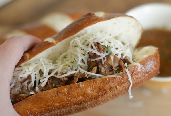 Slow Cooker French Dip Subs