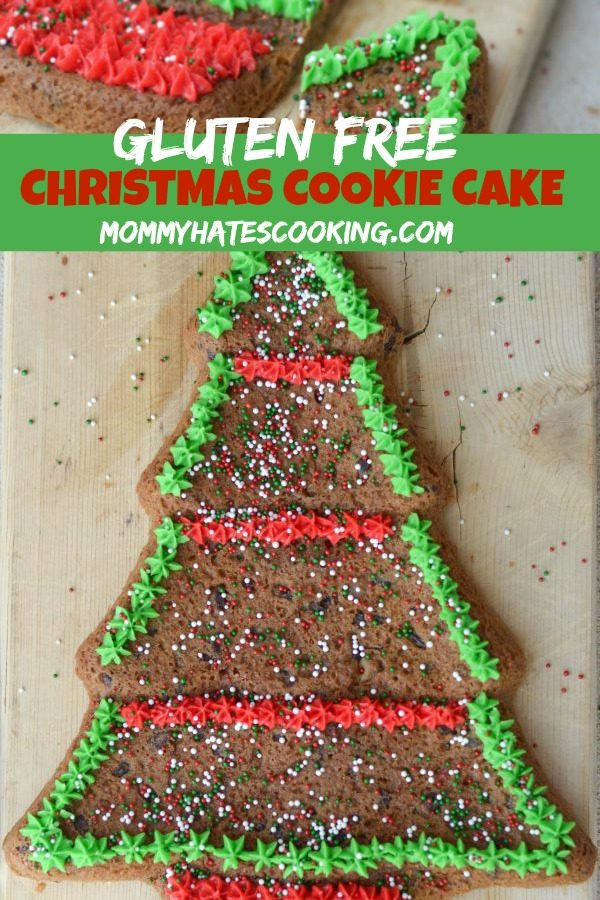 GLUTEN FREE CHRISTMAS TREE COOKIE CAKE