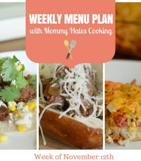 Weekly Menu Plan – Week of November 12th