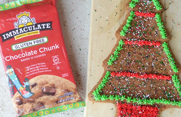 Gluten-Free Christmas Tree Cookie Cake