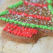 Gluten-Free Christmas Tree Cookie Cake